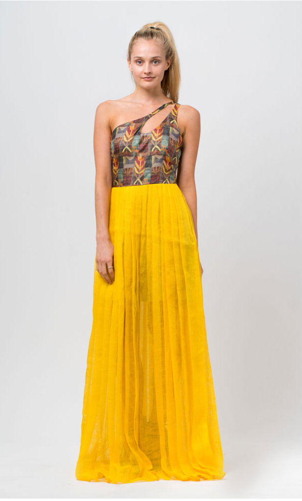 Magnificent-Yellow-Full-length-Dress